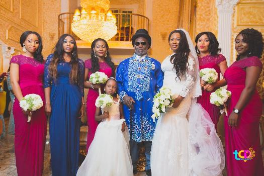 Photos: Nollywood Stars Grace Ateke Tom's daughter's white wedding