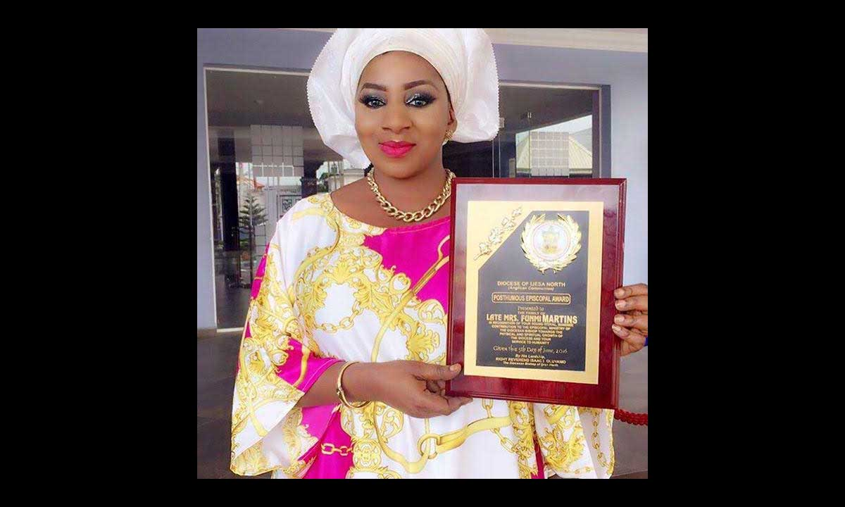 Mide Martins Receives Posthumous Award In Memory Of Her Great Mother