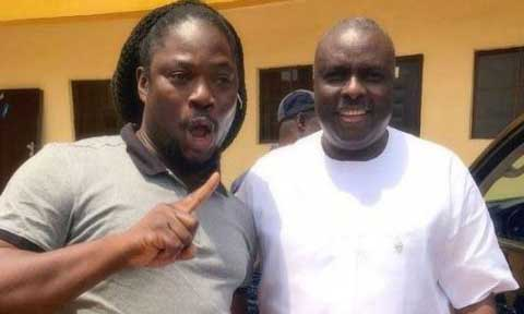 Daddy Showkey with James Ibori