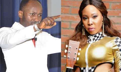 Stephanie Otobo and Apostle Suleman
