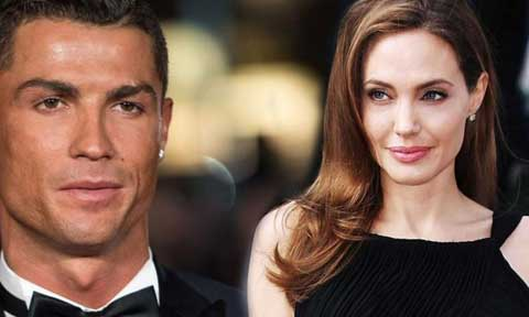 Cristiano Ronaldo and Angelina Jolie