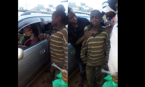 See Beggar Who Cried After Seeing that the Woman he Went to Beg Relies on Oxygen to Live