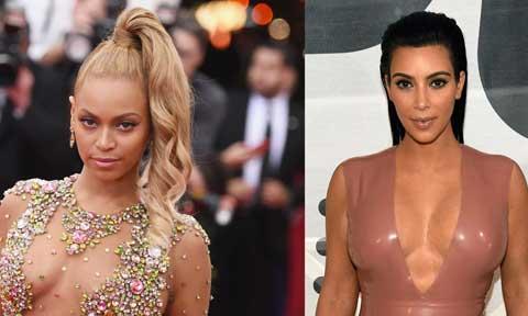 Kim Kardashian and Beyounce