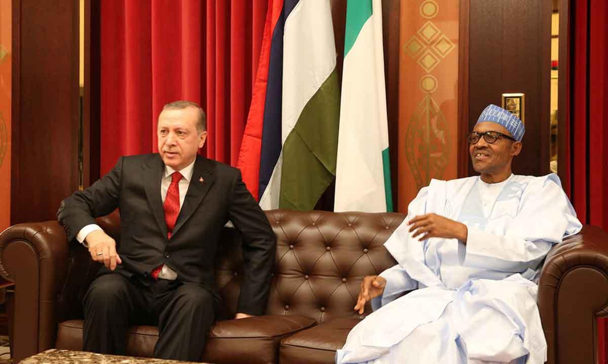 Muhammadu Buhari and Turkish President Recep Tayyip Erdogan