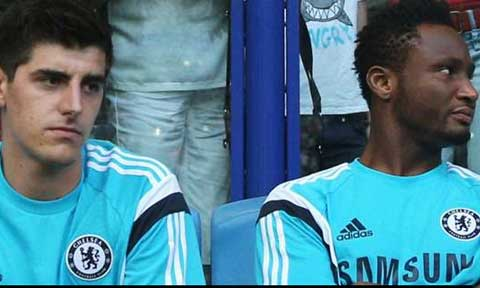 Courtois and Mikel