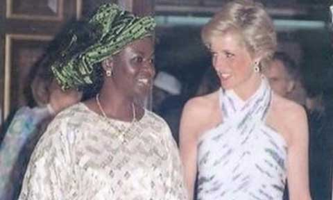 Princess Diana and Maryam Babangida