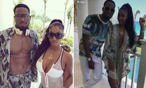 This American Model, Bernice Burgos, Makes D'banj Goes Shirtless In The Bahamas