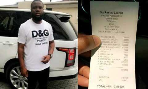 Hushpuppi Spends N3.3million Again! On Drinks To Humble His Competitors