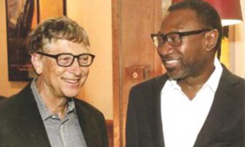 Femi Otedola and  Bill Gates