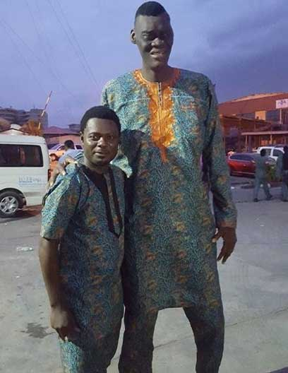 Image result for pictures of tallest man in Nigeria