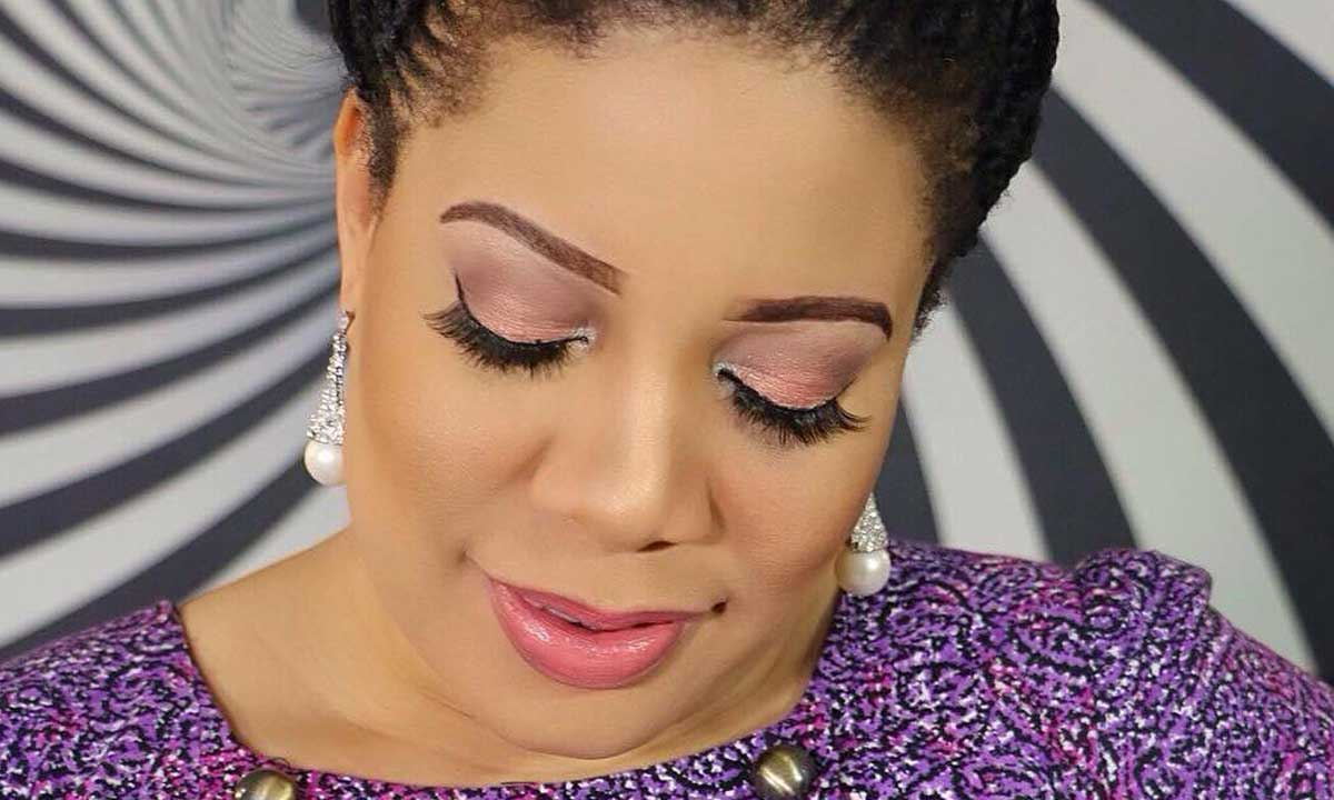 Monalisa Chinda slammed for wearing a transparent cloth to church
