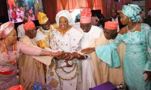 Photo speak from OBJ's son Traditional marriage