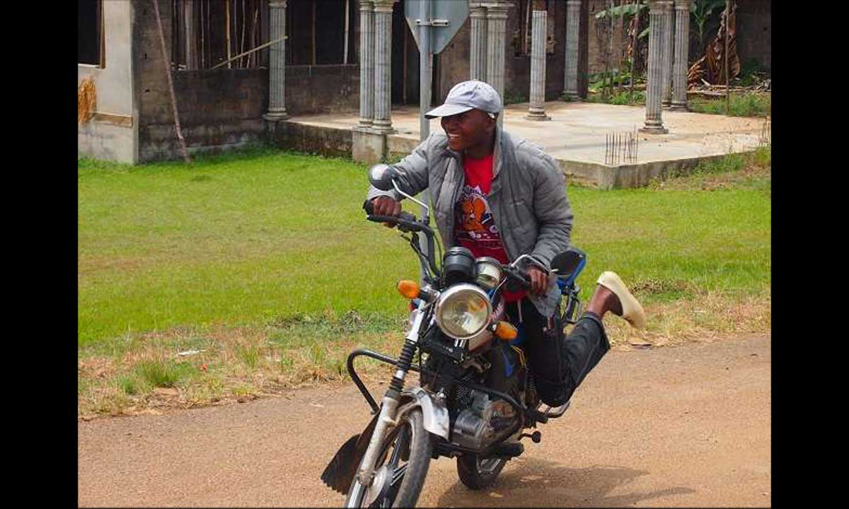 Meet Nigerian Stunt Rider Who Sleeps While Riding Bike (Okada)