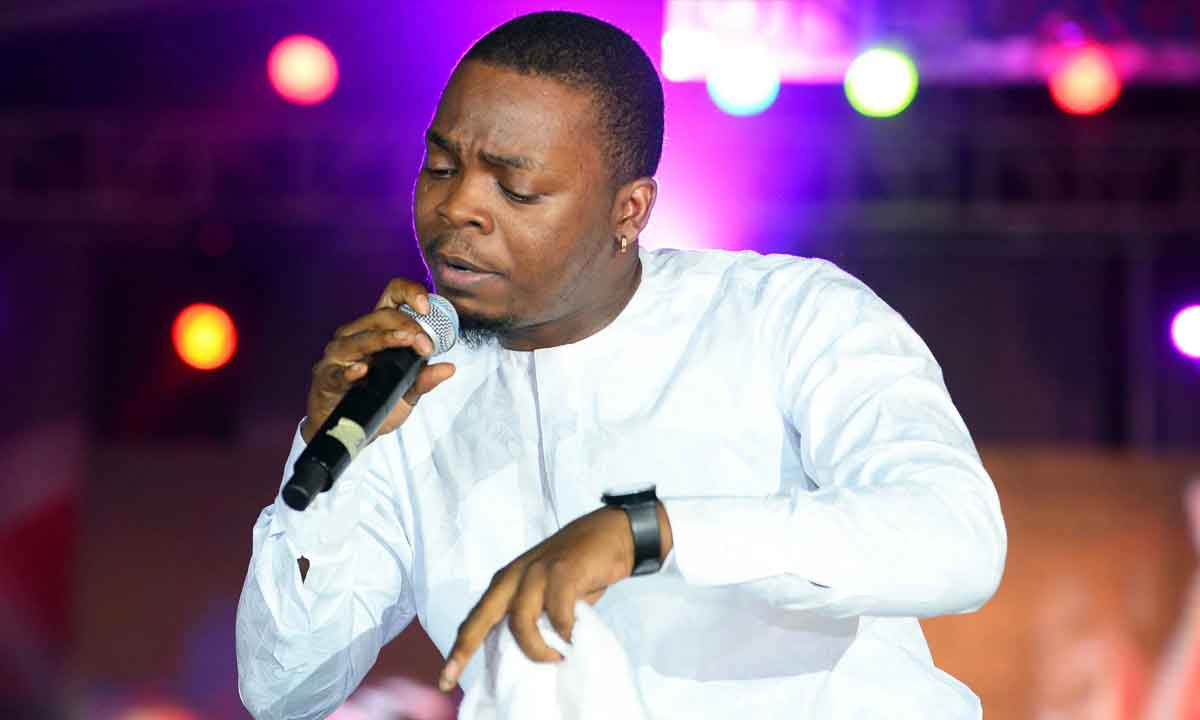 Olamide's son is already showing his heart melting musical skills