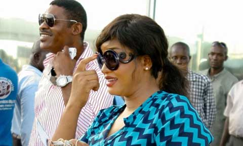 Omotola Jalade and Matthew Ekeinde