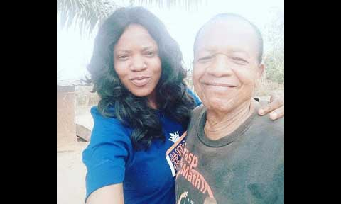 Photos: Toyin Aimakhu Visits Parents In Ibadan, Unveils Her 77-Year-Old Dad, Prophetess Mummy