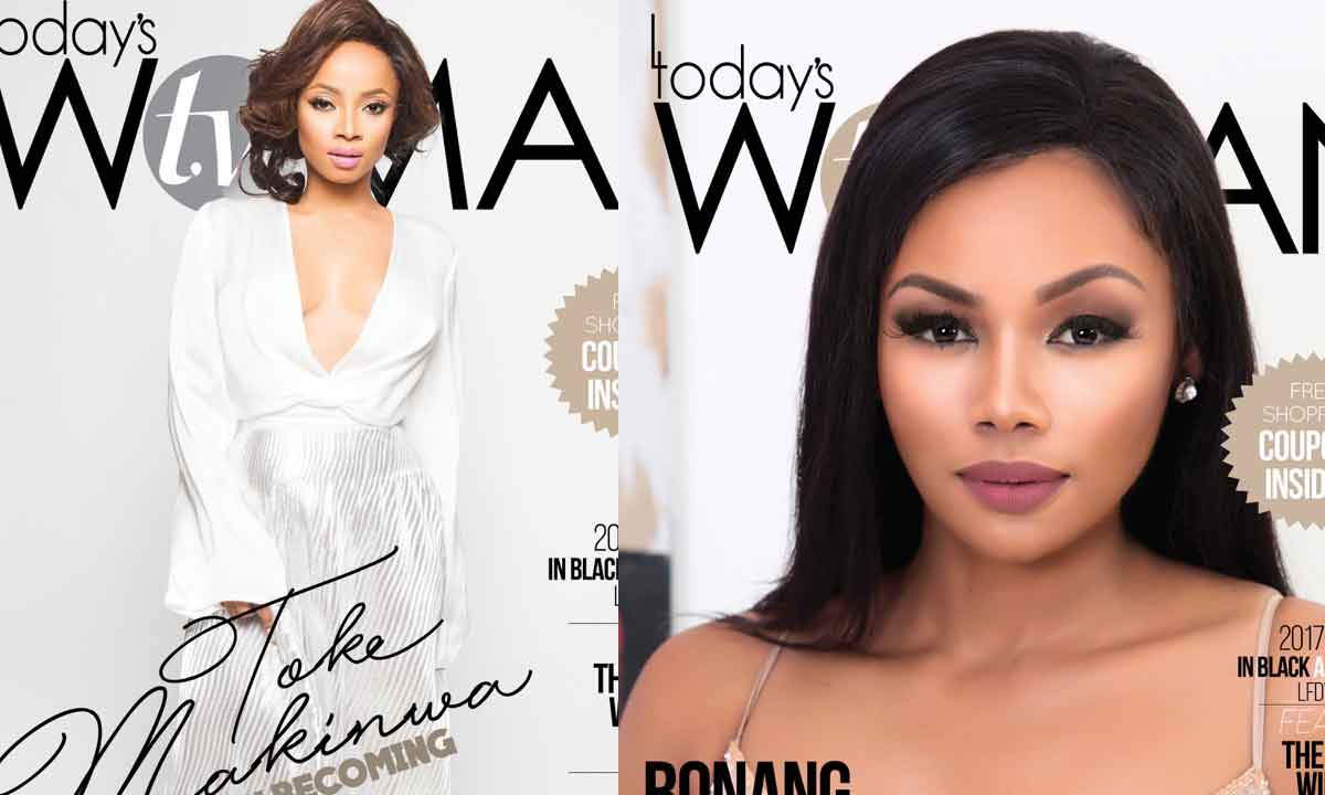 Toke Makinwa and  Bonang Matheba